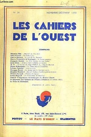 LES CAHIERS DE L'OUEST N°26 NOVEMBRE DECEMBRE: COLLECTIF