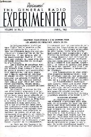 THE GENERAL RADIO EXPERIMENTER, VOL. 36, N°: COLLECTIF