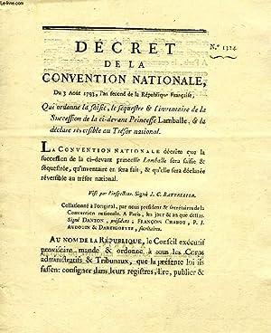 DECRET DE LA CONVENTION NATIONALE, N° 1324,: BOUCHOTTE, GOHIER