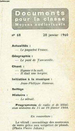 DOCUMENTS POUR LA CLASSE - N°68 -: COLLECTIF