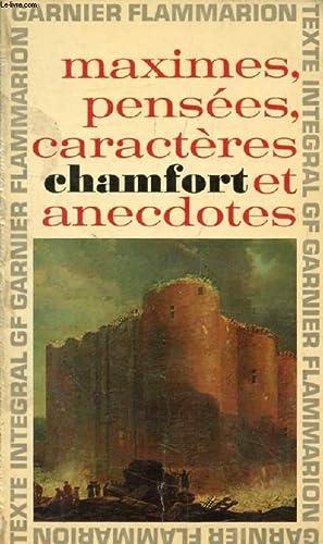 MAXIMES ET PENSEES, CARACTERES ET ANECDOTES (PRODUITS: CHAMFORT