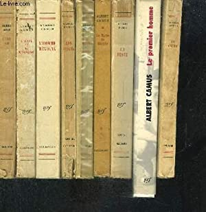 1 LOT DE 9 LIVRES DIFFERENTS DE: CAMUS ALBERT