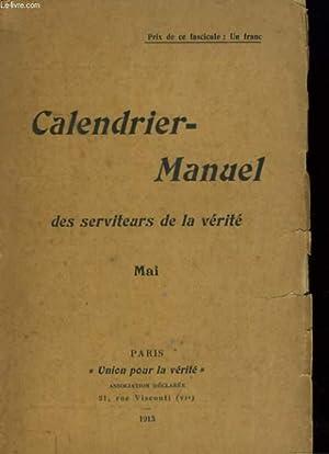 CALENDRIER-MANUEL DES SERVITEURS DE LA VERITE. MAI: COLLECTIF