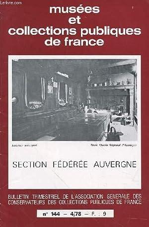 MUSEE ET COLLECTION PUBLIQUES DE FRANCE N°144: COLLECTIF