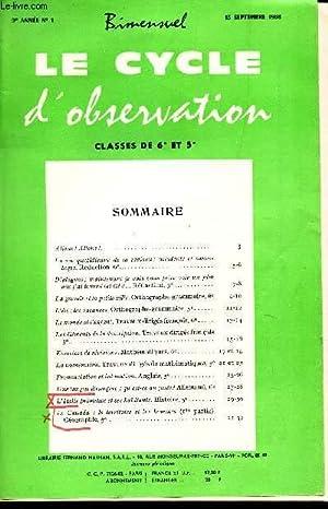 LE CYCLE D'OBSERVATION - CLASSES DE 6e: COLLECTIF