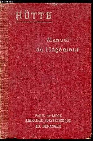 MANUEL DE L'INGENIEUR / TOME 3 /: HUTTE
