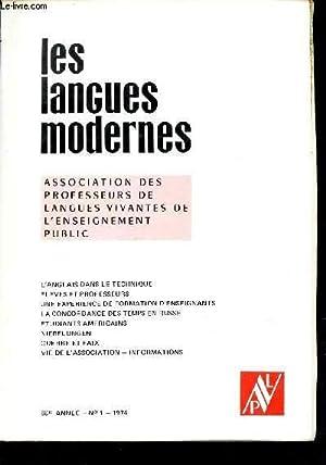 LES LANGUES MODERNES - 68e année -: COLLECTIF