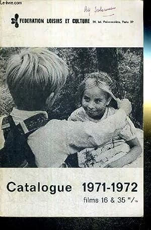 CATALOGUE 1971-1972 - FILMS 16 & 35: COLLECTIF