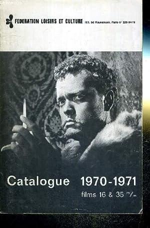 CATALOGUE 1970-1971 - FILMS 16 & 35: COLLECTIF