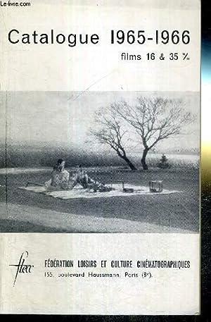 CATALOGUE 1965-1966 - FILMS 16 & 35: COLLECTIF