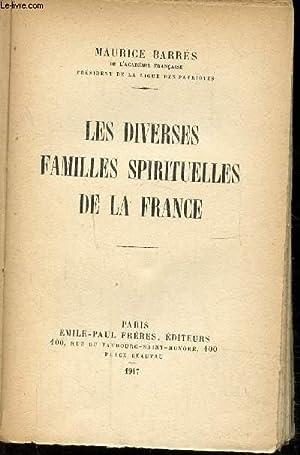 LES DIVERSES FAMILLES SPIRITUELLES DE LA FRANCE: BARRES MAURICE