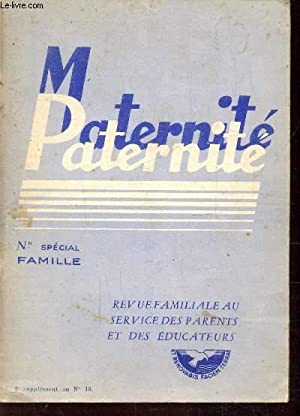 MATERNITE-PATERNITE - N°2 SUPPLEMENT AU N°18 -: COLLECTIF