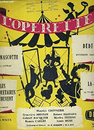 1 DISQUE AUDIO 33 TOURS - L'OPERETTE: CHEVALIER - MOIZAN