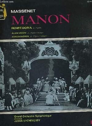 1 DISQUE AUDIO 33 TOURS - MANON: DORIA - VANZO