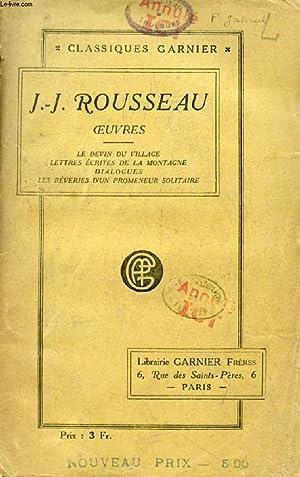 OEUVRES (Le Devin du Village, Lettres Ecrites: ROUSSEAU J.-J.