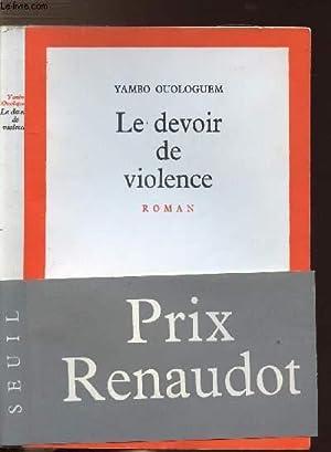 LE DEVOIR DE VIOLENCE: OUOLOGUEM YAMBO