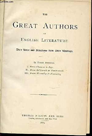 THE GREAT AUTHORS OF ENGLISH LITERATURE -: COLLECTIF
