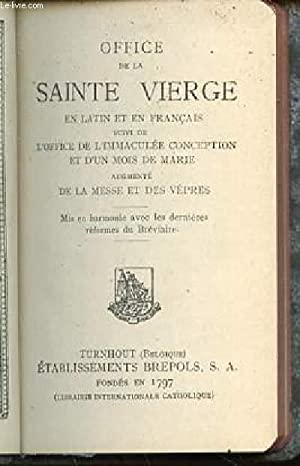OFFICE DE LA SAINTE VIERGE EN LATIN: COLLECTIF