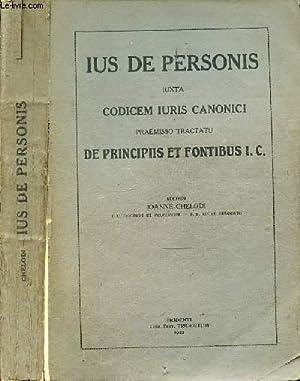 IUS DE PERSONIS IUXTA CODICEM IURIS CANONICI: CHELODI IOANNE