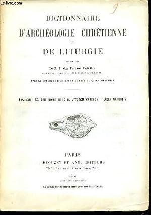 FASCICULE IX : ANTIPHONE DANS LA LITURGIE: CABROL FERNAND R.