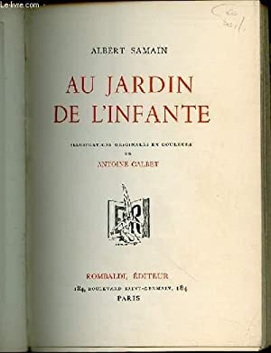 Au jardin de l 39 infante illustrations originales en for Au jardin de l infante albert samain