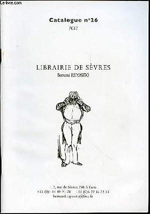 CATALOGUE DE VENTE N°26 : LIBRAIRIE DE: ESPOSITO BERNARD