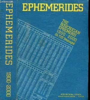 EPHEMERIDES - THE ROSICRUCIAN EPHEMERIS - 1900-2000: COLLETIF