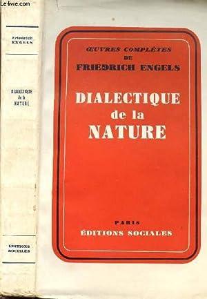 DIALECTIQUE DE LA NATURE: ENGELS Friedrich