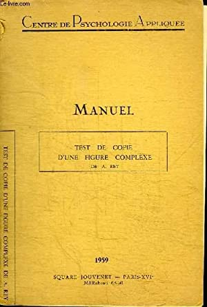 MANUEL - TEST DE COPIE D'UNE FIGURE: CENTRE DE PSYCHOLOGIE