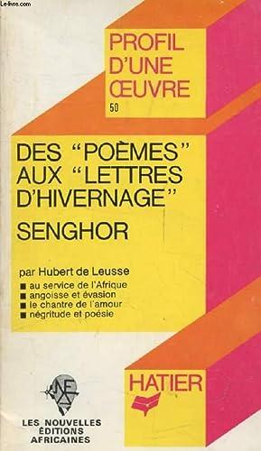 DES 'POEMES' AUX 'LETTRES D'HIVERNAGE', L. S.: LEUSSE HUBERT DE