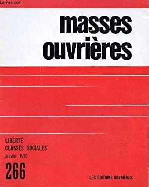 MASSES OUVRIERES N°266 - JAN 70 +: COLLECTIF