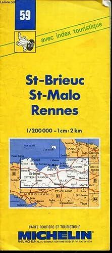 CARTE MICHELIN N°59 : ST BRIEUC -: COLLECTIF