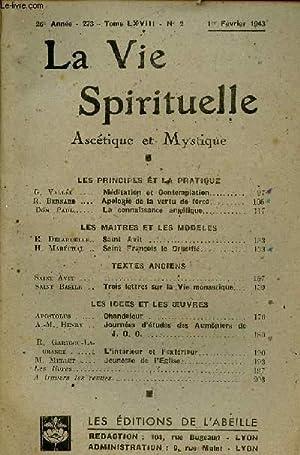 LA VIE SPIRITUELLE N°2 - 26e ANNEE: COLLECTIF