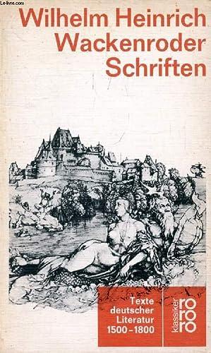 SÄMTLICHE SCHRIFTEN (TEXTE DEUTSCHER LITERATUR, 1599-1800): WACKENRODER Wilhelm Heinrich,