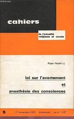CAHIERS D'ACTION RELIGIEUSE ET SOCIALE N°3 -: COLLECTIF