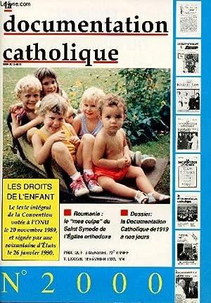 LA DOCUMENTATION CATHOLIQUE N°2000 - 72E ANNEE: COLLECTIF