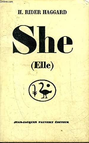 SHE (ELLE) - COLLECTION LES INDES NOIRES.: H.RIDER HAGGARD