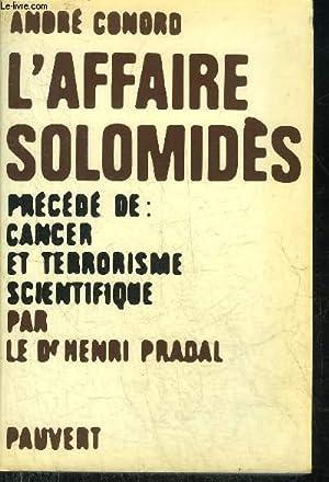 L'AFFAIRE SOLOMIDES.: CONORD ANDRE