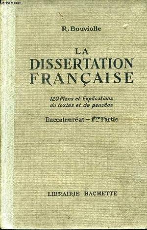dissertation français 1ère - Aide aux devoirs - Forum Fr