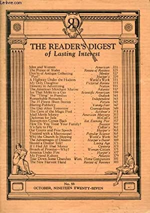 THE READER'S DIGEST, 6th YEAR, VOL. 6,: COLLECTIF