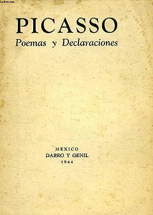 POEMAS Y DECLARACIONES: PICASSO PABLO