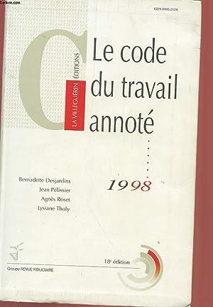 LE CODE DU TRAVAIL ANNOTE 1998: COLLECTIF