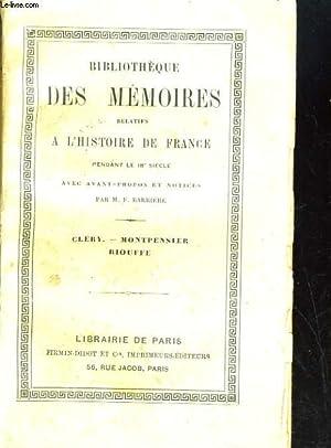 Mémoires de Cléry de M. le Duc de Montpensier de Riouffe, avec avant-propos et notes ...