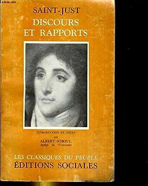 Saint-Just discours et rapports: Saint just.
