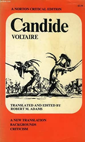 CANDIDE OR OPTIMISM: VOLTAIRE, By R. M. ADAMS