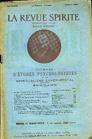 REVUE SPIRITE - JOURNAL D'ETUDES PSYCHOLOGIQUES: KARDEC ALLAN - COLLECTIF