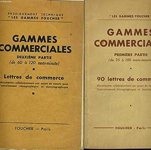 GAMMES COMMERCIALES EN 2 TOMES: DE 25 A 100 MOTS-MINUTE ET DE 60 A 120 MOTS-MINUTE: COLLECTIF