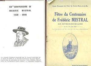 1 LOT DE DOCUMENTS SUR : FREDERIC MISTRAL 1830 - 1980: COLLECTIF