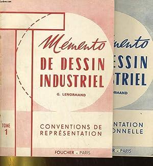 MEMENTO DE DESSIN INDUSTRIEL en 2 TOMES: TOME 1. CONVENTIONS DE REPRESENTATION - TOME 2: ...