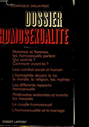Dossier homosexualité: DALLAYRAC Dominique